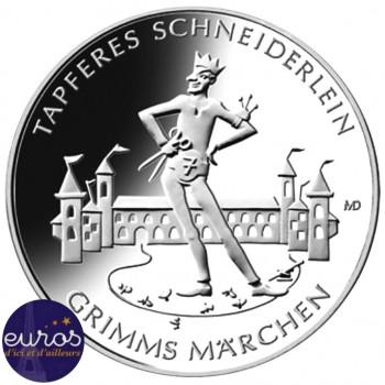 20 euros ALLEMAGNE 2019 - Contes de Grimm's - Courageux Petit Tailleur - Ag 925 ‰