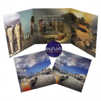 Set BU GRECE 2019 - Le Tourisme Grec : Samos - Série 1 cent à 2 euros - Brillant Universel
