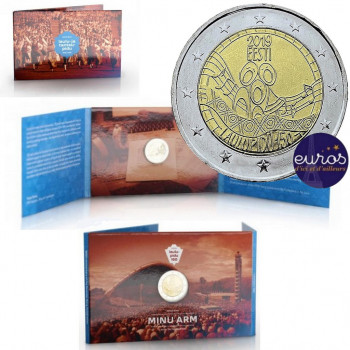 Coincard 2 euros commémorative ESTONIE 2019 - Festival de Chant - Brillant Universel