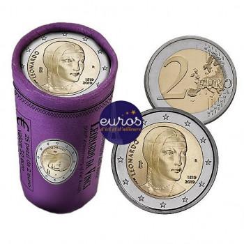 Rouleau 25 x 2 euros commémoratives ITALIE 2019 - Léonard de Vinci