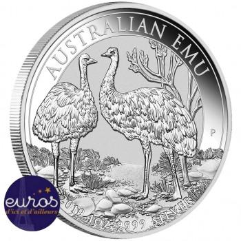 AUSTRALIE 2019 - 1$ AUD - L'Emeu - 1oz (once) argent - Bullion