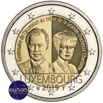 2 euros commémorative LUXEMBOURG 2019 - Grande Duchesse Charlotte - UNC