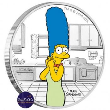 TUVALU 2019 - 1 dollar TVD - Les Simpsons™, Marge Simpson™ - 1 oz argent 999‰