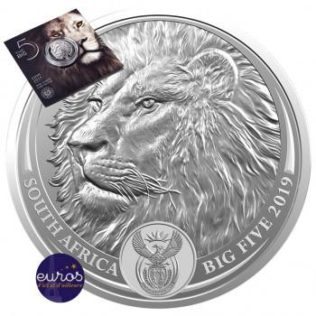 AFRIQUE du SUD 2019 - Big Five - Le Lion - Argent 1 Oz - Bullion Coin (n°2)