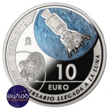 10 euros ESPAGNE 2019 - 50 ans Premier Pas sur la Lune - Argent 925‰