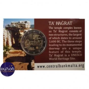 Coincard 2 euros commémorative MALTE 2019 - Ta'Hagrat - Mintmark MdP - UNC