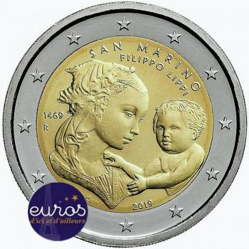 2 euros commémorative SAINT MARIN 2019 - Filippo Lippi - BU