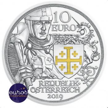10 euros commémorative AUTRICHE 2019 - Chevalier : Aventure - Argent - Belle Epreuve