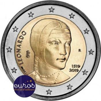 2 euros commémorative ITALIE 2019 - Léonard de Vinci - UNC