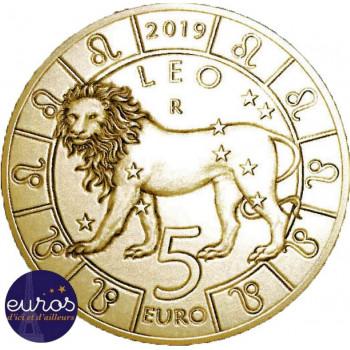 5 euros commémorative SAINT MARIN 2019 - Horoscope -  Lion - 5/12