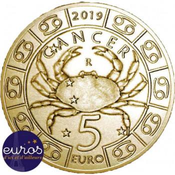5 euros commémorative SAINT MARIN 2019 - Horoscope -  Cancer - 4/12