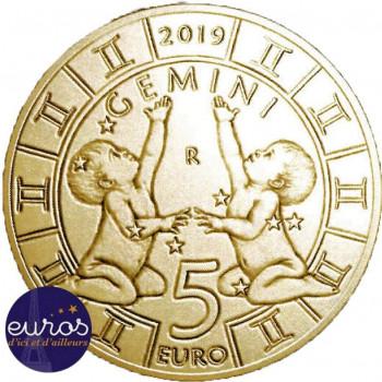 5 euros commémorative SAINT MARIN 2019 - Horoscope -  Gémeaux- 3/12