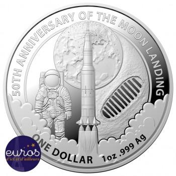 AUSTRALIE 2019 - 1$ AUD - Premier Pas sur la Lune - BU