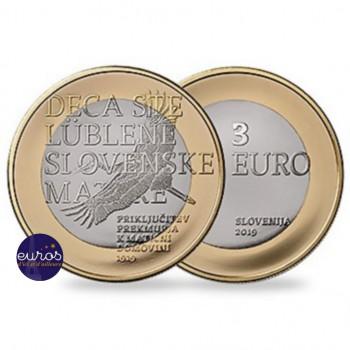 3 euros SLOVENIE 2019 - 100 ans de l'intégration de Prekmurje à la Slovénie - UNC