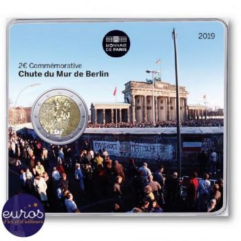 2 euros commémorative FRANCE 2019 - 30ème anniversaire Chute du Mur de Berlin - Brillant Universel