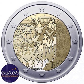 Rouleau 25 x 2 euros commémoratives FRANCE 2019 - Mur de Berlin - UNC