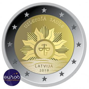 2 euros commémorative LETTONIE 2019 - Soleil Levant - UNC