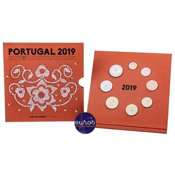 Set BU PORTUGAL 2019 - Série 1 cent à 2 euros - Brillant Universel