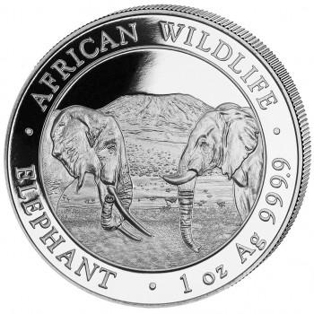 SOMALIE 2020 - 1 oz argent - Elephant, la Faune Africaine - African Wildlife