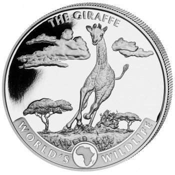 CONGO 2019 - La Girafe - World´s Wildlife - 1oz argent (1)