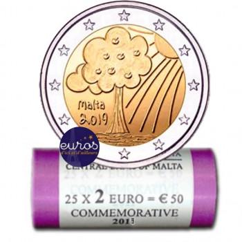 Rouleau 25 x 2 euros MALTE...