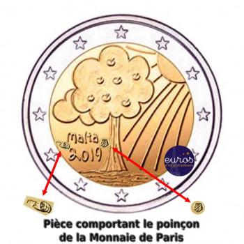2 euros commémorative MALTE 2019 - Nature et Environnement - Mintmark MdP