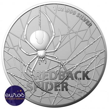 AUSTRALIE 2020 - 1$ AUD - Redback Spider - Araignée à dos rouge - Argent 1oz