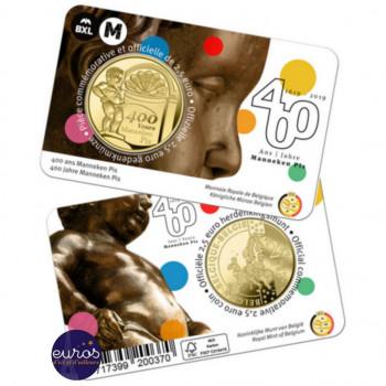 Coincard 2,5 euros commémorative BELGIQUE 2019 - 400 ans du Manneken Pis - Français et/ou Flamand