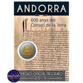 2 euros commémorative ANDORRE 2019 - 600 ans du Conseil de la Terre - UNC