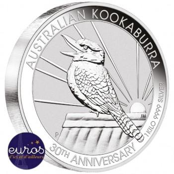 AUSTRALIE 2020 - 30$ AUD - Kookaburra - 1 kilo - Argent 999,99‰