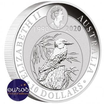 AUSTRALIE 2020 - 10$ AUD - Kookaburra - 10oz - Argent 999,99‰  - Bullion coin