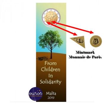 Coincard 2 euros commémorative MALTE 2019 - Nature et Environnement - Mintmark MdP
