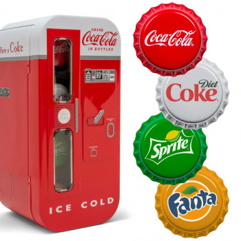 ILES FIDJI 2020 - 4 x 1$ - Distributeur Automatique Coca-Cola® - Argent