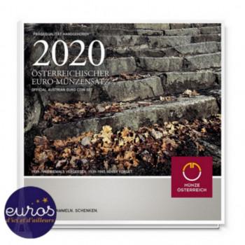Set BU AUTRICHE 2020 - Série 1 cent à 2 euros - Brillant Universel - 1939-1945 N'oublions jamais
