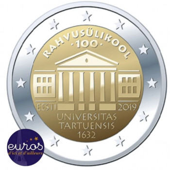 2 euros commémorative ESTONIE 2019 - Université de Tartu - UNC