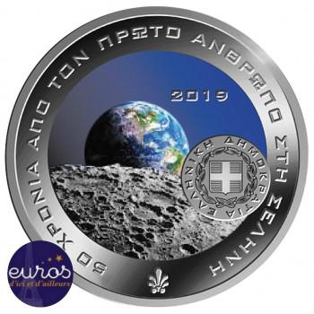 6 euros GRECE 2019 - Premier Homme sur la Lune - Argent 925‰ - Belle Epreuve