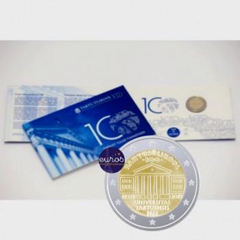 Coincard 2 euros commémorative ESTONIE 2019 - Université de Tartu - Brillant Universel