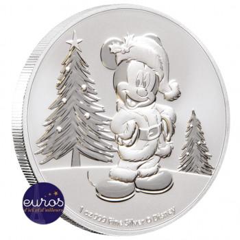 NIUE 2019 - 2$ NZD Mickey Mouse™ Nöel - 1oz argent - Disney™