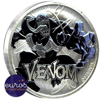 TUVALU 2020 - 1$ TVD - Venom™ - Marvel (8) - 1 oz argent 999‰ - Bullion Coin