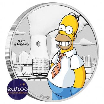 TUVALU 2020 - Les Simpsons™, Homer - 1/2 oz argent 999‰