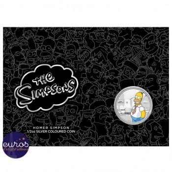 Coincard incluant la pièce d'un demi once en argent pur colorisée TUVALU 2020 - Les Simpsons™, Homer