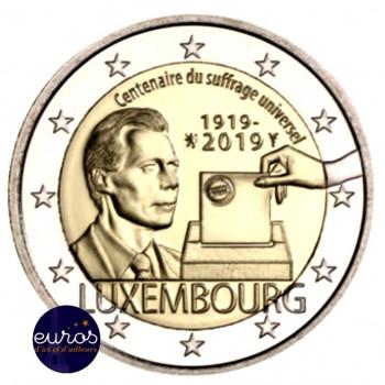 2 euros commémorative LUXEMBOURG 2019 - Droit de vote - UNC