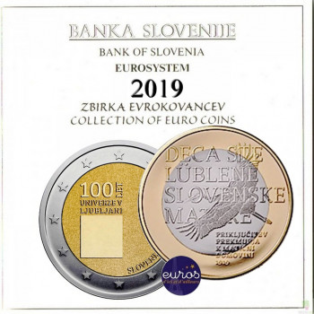 Set BU SLOVENIE 2019 - Série 1 cent à 2 euros + 2€ et 3€ commémorative