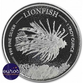 ILE de la BARBADE 2019 - 1$ BBD - Poisson Lion (Lionfish) - 1oz argent - Bullion