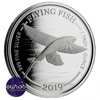 ILE de la BARBADE 2019 - 1$ BBD - Le Poisson Volant (Flying Fish) - 1oz argent - Bullion