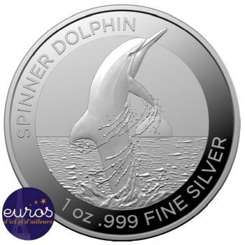 AUSTRALIE 2020 - 1$ AUD - Le Dauphin à long museau, Spinner Dolphin- 1oz - Argent 999,99‰ - Bullion Coin
