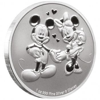 NIUE 2020 - 2$ NZD Mickey et Minnie Mouse™ - 1oz argent - Disney™