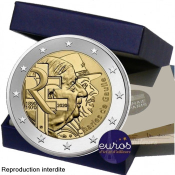 2 euros commémorative FRANCE 2020 - Charles de Gaulle - Belle Epreuve