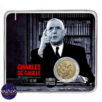2 euros commémorative FRANCE 2020 - Charles de Gaulle - Brillant Universel
