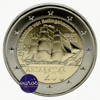 2 euros commémorative ESTONIE 2020 - 200 ans de la Découverte de l'Antarctique - UNC